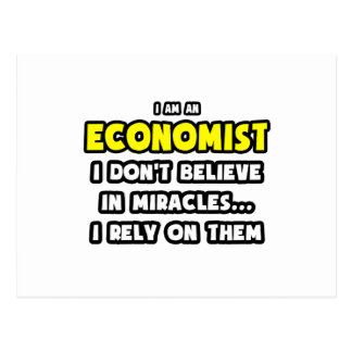 Miracles and Economists ... Funny Postcard