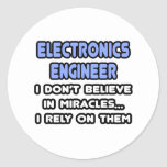 Miracles and Electronics Engineers Stickers