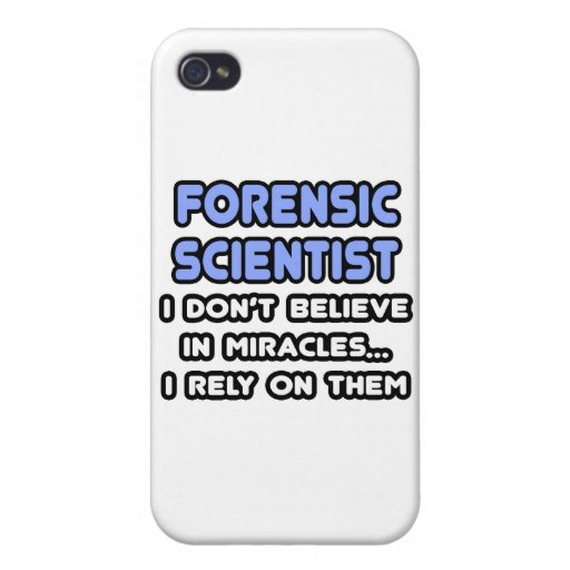 Miracles and Forensic Scientists Cases For iPhone 4