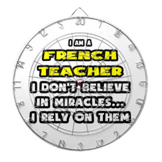 Miracles and French Teachers ... Funny Dart Board