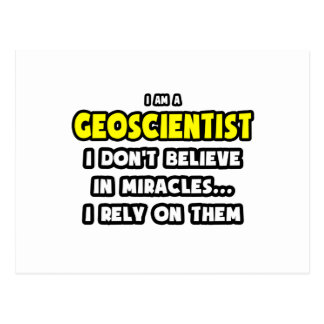 Miracles and Geoscientists ... Funny Postcard