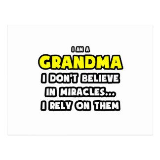 Miracles and Grandmas ... Funny Postcard