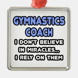 Miracles and Gymnastic Coaches Christmas Tree Ornament