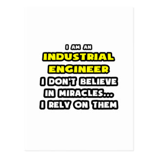 Miracles and Industrial Engineers ... Funny Postcard