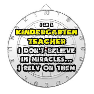 Miracles and Kindergarten Teachers ... Funny Dart Board