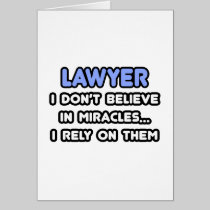 Miracles and Lawyers Card