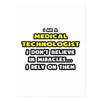 Miracles and Medical Technologists ... Funny Postcard