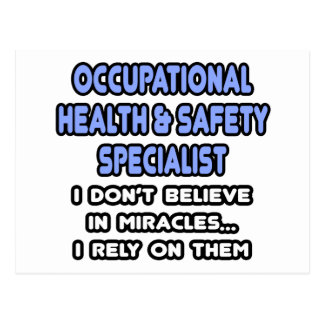 Miracles and Occ Health and Safety Specialists Postcard