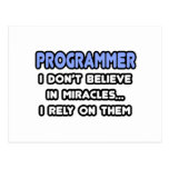 Miracles and Programmers Postcard