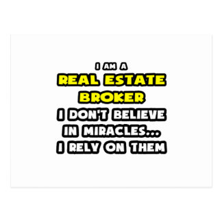Miracles and Real Estate Brokers ... Funny Postcard