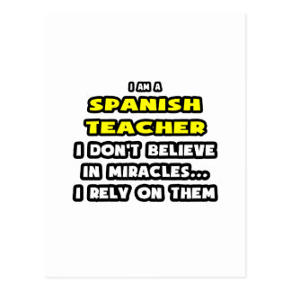 Miracles and Spanish Teachers ... Funny Postcard