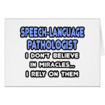 Miracles and Speech-Language Pathologists Cards