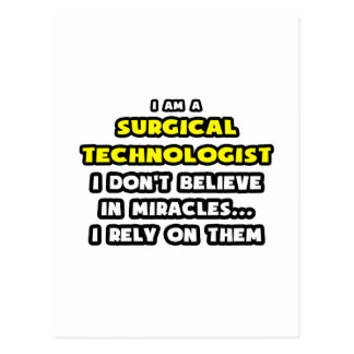 Miracles and Surgical Technologists ... Funny Postcard