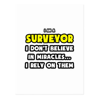 Miracles and Surveyors Funny Post Cards