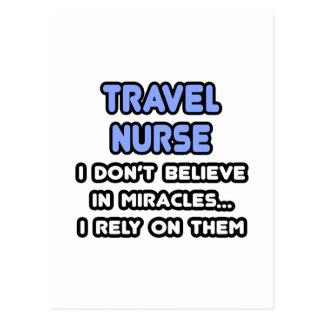 Miracles and Travel Nurses Postcard