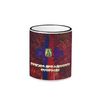 Miracles Are Happening Everyday Mug (red)