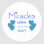 Miracles Classic Round Sticker