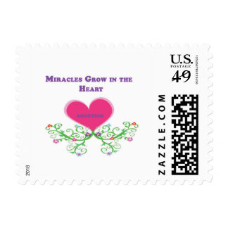 Miracles Grow in the Heart Adoption Postage