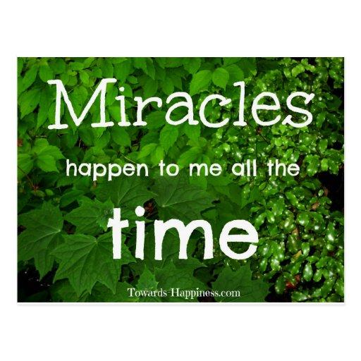 Miracles Happen Affirmation Postcard