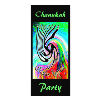 Miracles Happen Chanukah Party Invitations