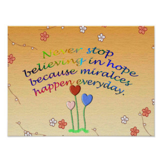 Miracles Happen Everyday Poster