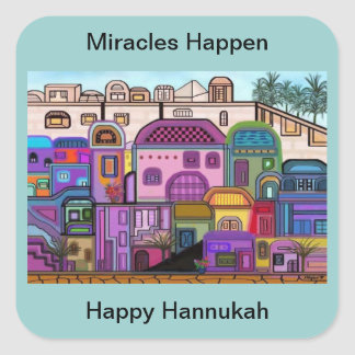 Miracles Happen Hannukah Stickers