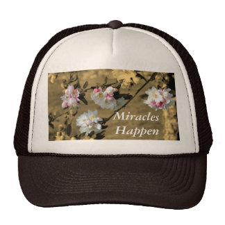 Miracles Happen Inspirational Hat