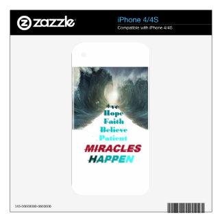 Miracles happen iPhone 4 skin