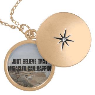 Miracles happen locket