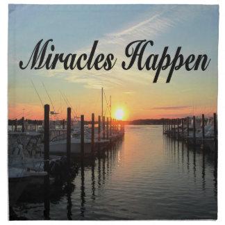 MIRACLES HAPPEN SUNSET PHOTO DESIGN CLOTH NAPKIN