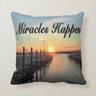 MIRACLES HAPPEN SUNSET PHOTO DESIGN PILLOW