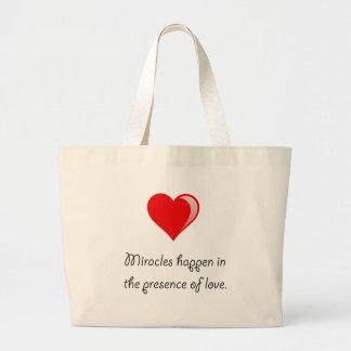 Miracles Love Large Tote Bag