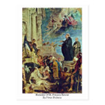 Miracles Of St. Francis Xavier By Peter Rubens Postcard