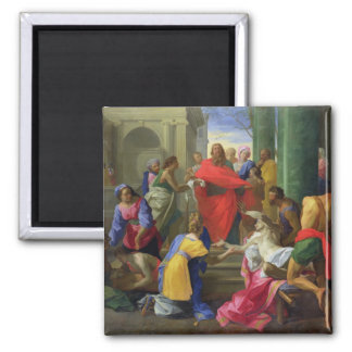 Miracles of St. Paul at Ephesus, 1693 2 Inch Square Magnet