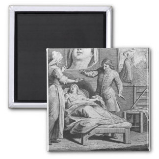 Miraculous healing of a blind woman 2 inch square magnet