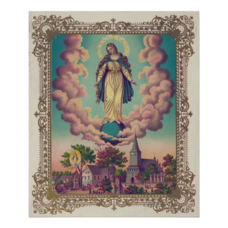 Miraculous Manifestations of the Virgin Mary 1879 Poster