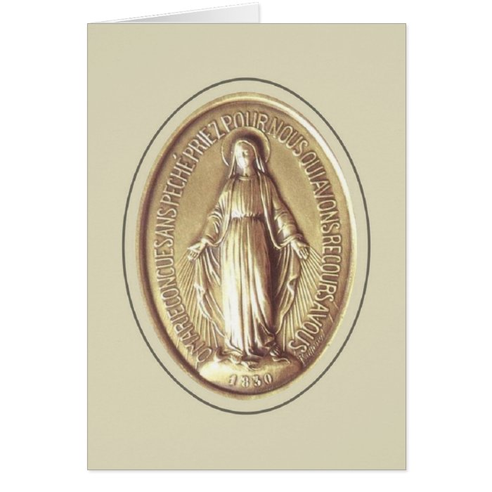 Miraculous Medal Card