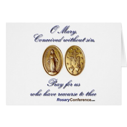 Miraculous Medal Note Card