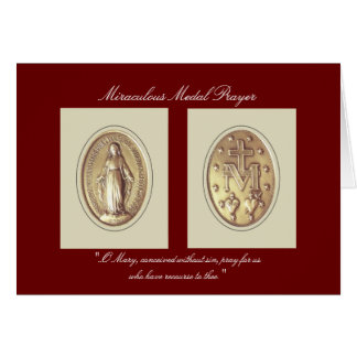 Miraculous Medal Prayer Greeting Card