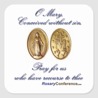 Miraculous Medal Prayer Stickers