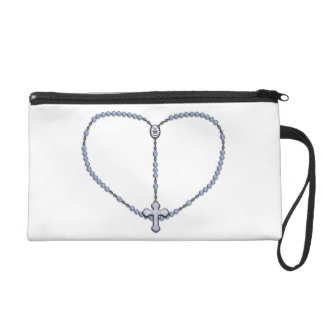 Miraculous Medal Rosary Wristlet Purse