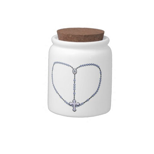 Miraculous Medal Rosary Candy Jars