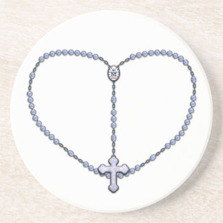 Miraculous Medal Rosary Coasters