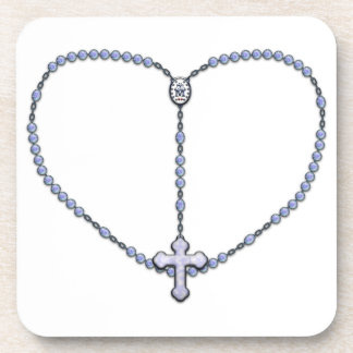 Miraculous Medal Rosary Beverage Coaster