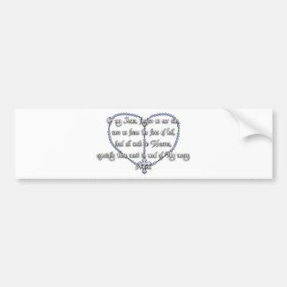 Miraculous Medal Rosary - Fátima Prayer Car Bumper Sticker