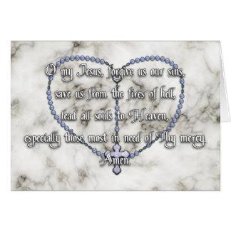 Miraculous Medal Rosary - Fátima Prayer Greeting Card