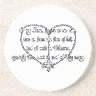 Miraculous Medal Rosary - Fátima Prayer Beverage Coasters