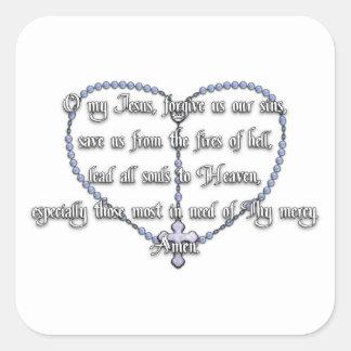 Miraculous Medal Rosary - Fátima Prayer Square Sticker
