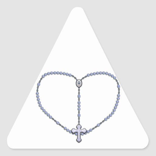 Miraculous Medal Rosary Triangle Sticker