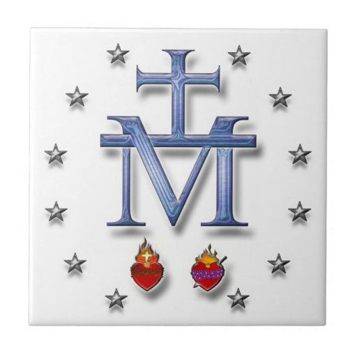 Miraculous Medal Small Square Tile